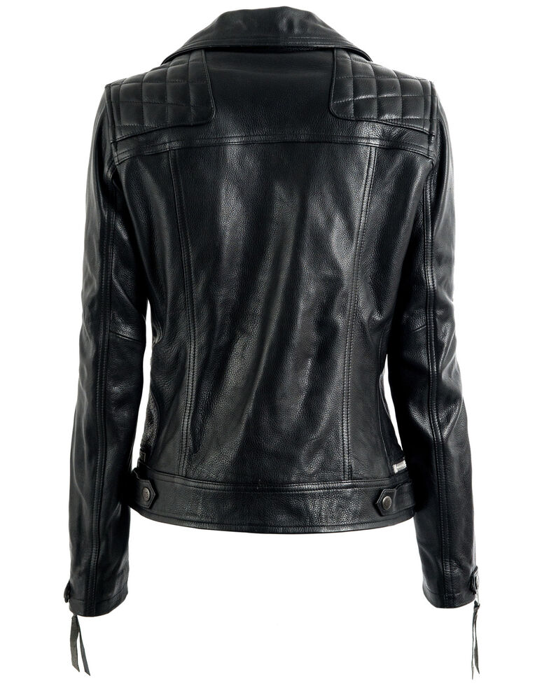 STS Ranchwear Women's Black Dreamer Moto Leather Jacket - Plus, Black, hi-res