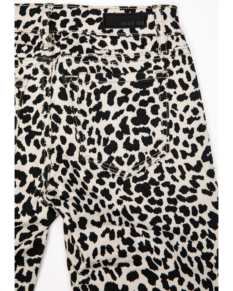 Miss Me Girls' Leopard Skinny Jeans, Black, hi-res