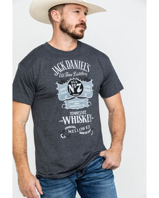 Jack Daniels' Men's Vintage Poster Graphic T-Shirt , Black, hi-res