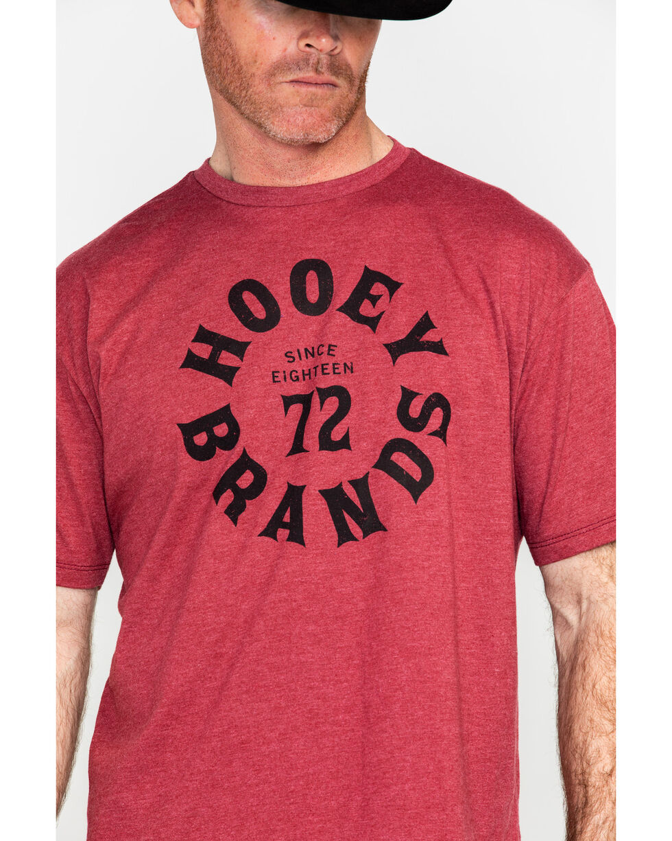HOOey Men's Since 1872 Pioneer Graphic T-Shirt , Red, hi-res