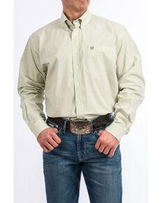 e1dca84558 Cinch Men s White Plaid Long Sleeve Western Shirt