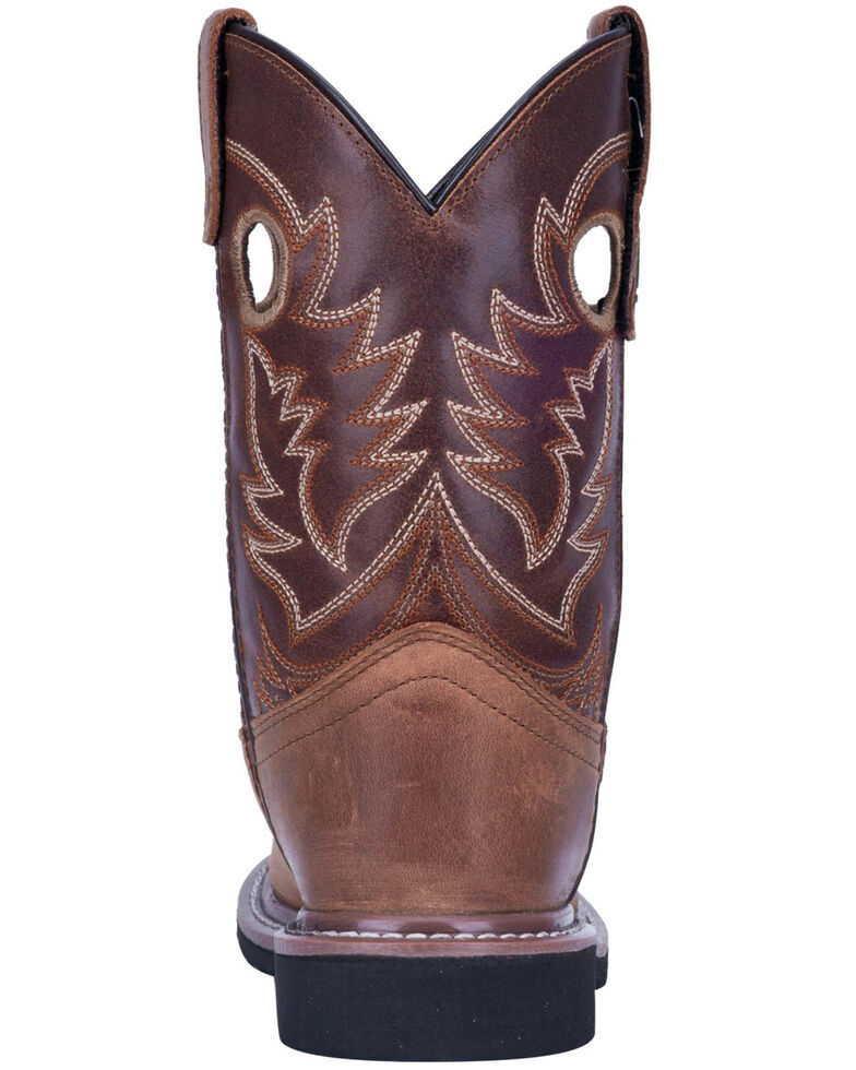 John Deere Kids' Johnny Popper Western Boots - Round Toe, Tan, hi-res