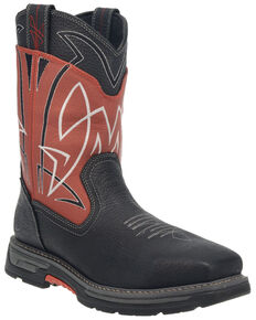 Dan Post Men's Storm Surge Waterproof Western Work Boots - Composite Toe , Red, hi-res