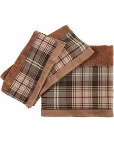HiEnd Accents Forest Pines Plaid Mocha Towel Set , Brown, hi-res