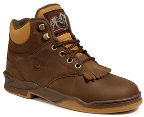 Roper Men's Horseshoe Kiltie Riding Boots, Tan, hi-res