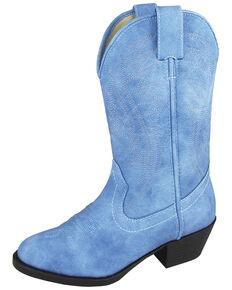 Smoky Mountain Girls' Mesquite Western Boots - Round Toe, Indigo, hi-res