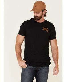 Lazy J Ranch Wear Men's Black Fire J Ranch Logo Graphic T-Shirt , Black, hi-res