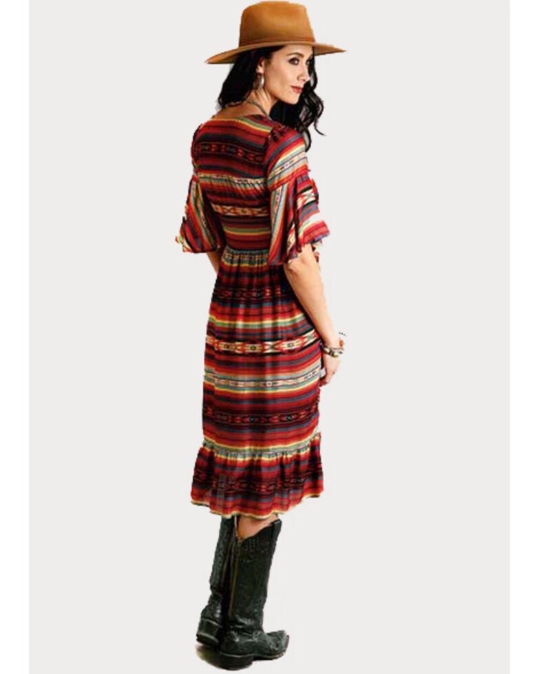 Stetson Women's Multi Serape Print Dress, Multi, hi-res