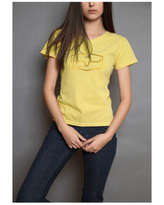 Kimes Ranch Women's Replay Foil Logo Graphic Tee , Yellow, hi-res