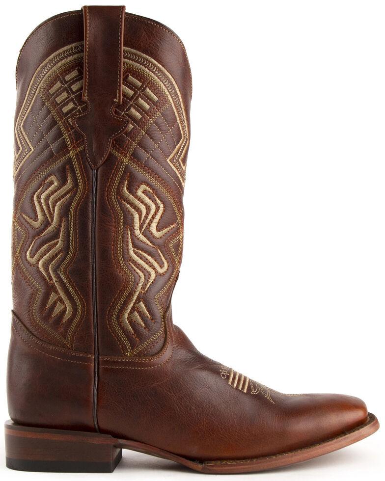 Ferrini Men's Roan Western Boots - Wide Square Toe, Brown, hi-res