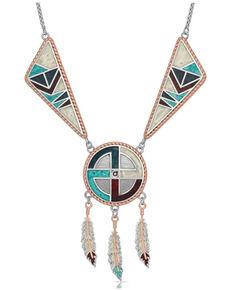 Montana Silversmiths Women's American Legends Dream Weaver Necklace, Silver, hi-res