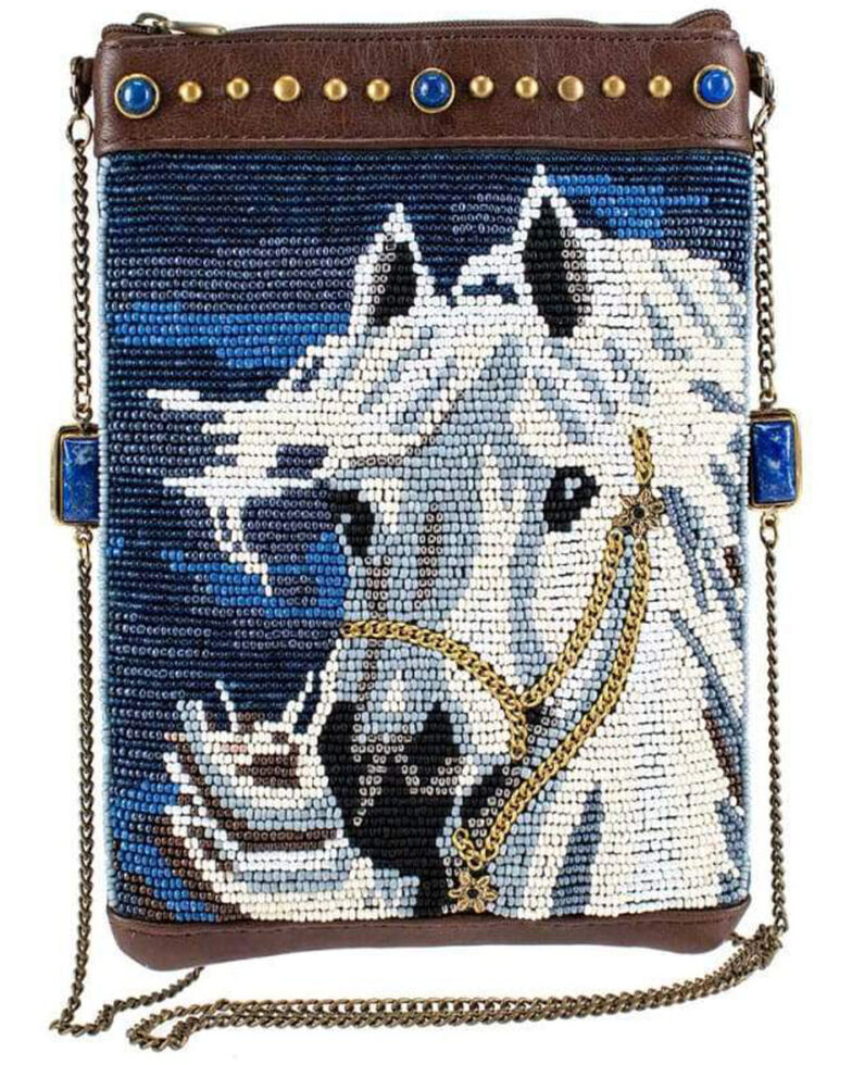 Mary Frances Women's Horse Play Beaded Crossbody Mini Handbag, Multi, hi-res