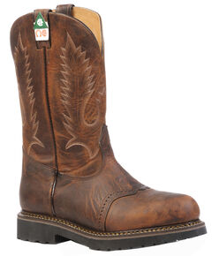 Boulet Laid Back Tan Spice Flame Resistant Work Boots - Steel Toe, Tan, hi-res