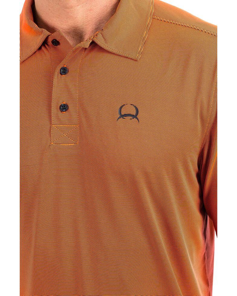 Cinch Men's Orange Arena Flex Short Sleeve Polo Shirt , Orange, hi-res