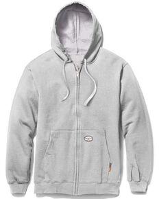 Rasco Men's Grey FR Zip Up Hoodie - Big, Grey, hi-res