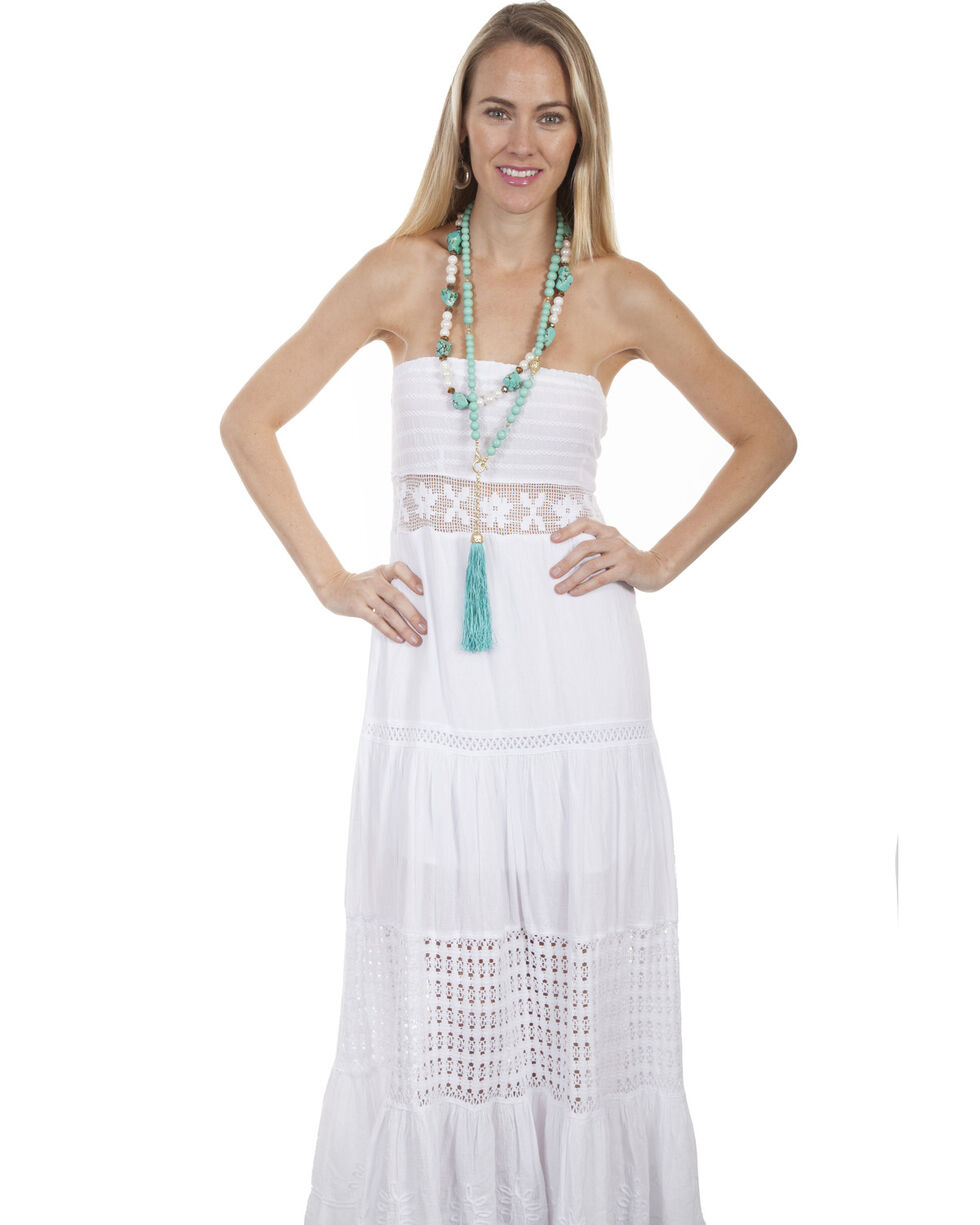 Cantina by Scully Women's White Tube Dress, White, hi-res