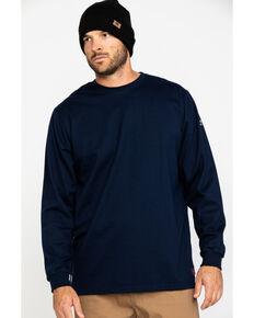 Ariat Men's Navy FR O&G Graphic Long Sleeve Work T-Shirt - Big & Tall , Navy, hi-res