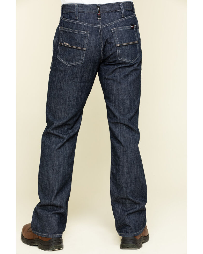 Ariat Men's M4 FR Armor Low Stretch Relaxed Bootcut Work Jeans , Blue, hi-res