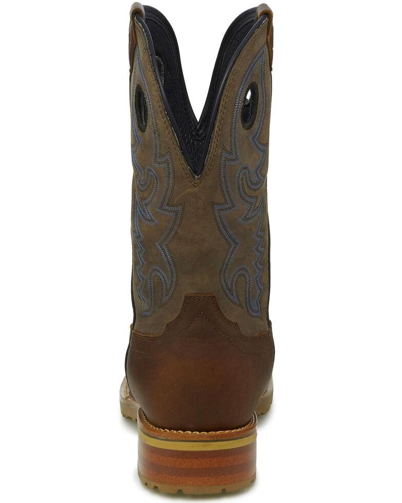 Justin Men's Marshal Waterproof Western Work Boots - Square Toe, , hi-res