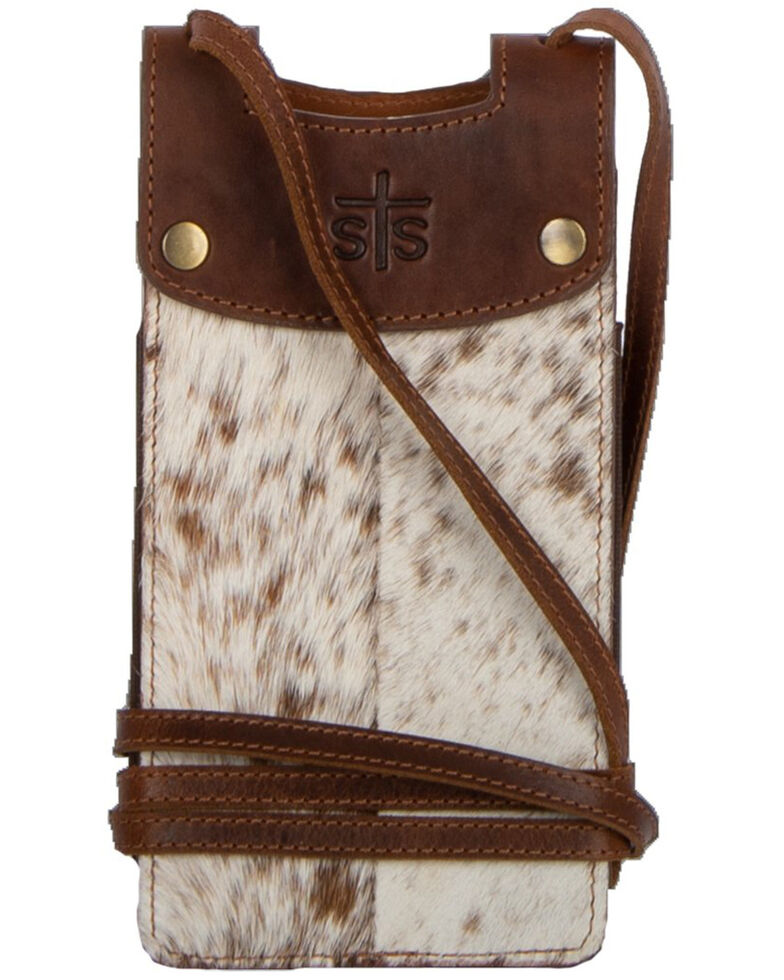 STS Ranchwear Women's Cowhide Cell Phone Crossbody, , hi-res