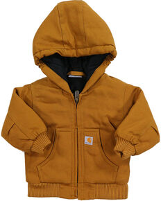 Carhartt Infant Boys' Cotton Duck Active Jacket, Brown, hi-res