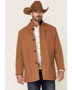 Cripple Creek Men's Camel Wool Melton Faux Leather Coat , Camel, hi-res