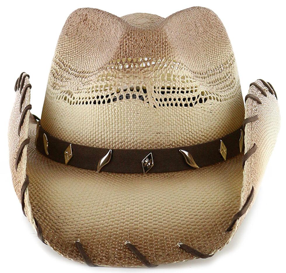 Cody James Saddle Straw Cowboy Hat, Brown, hi-res