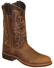 Abilene Men's Tan Bison Western Boots - Round Toe, Tan, hi-res