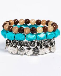 Idyllwind Women's Basic Beaded 3 Bracelet Stack, Multi, hi-res