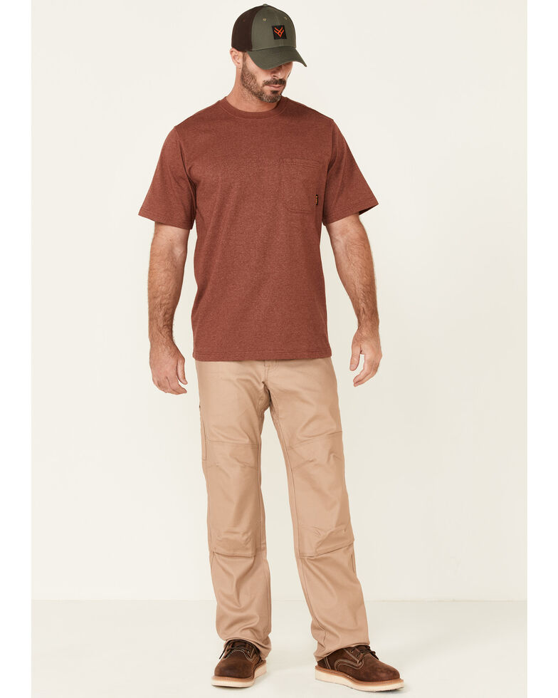 Hawx Men's Solid Red Forge Short Sleeve Work Pocket T-Shirt , Red, hi-res