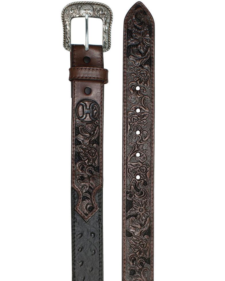 HOOey Men's Turquoise Inlay Belt, Black, hi-res