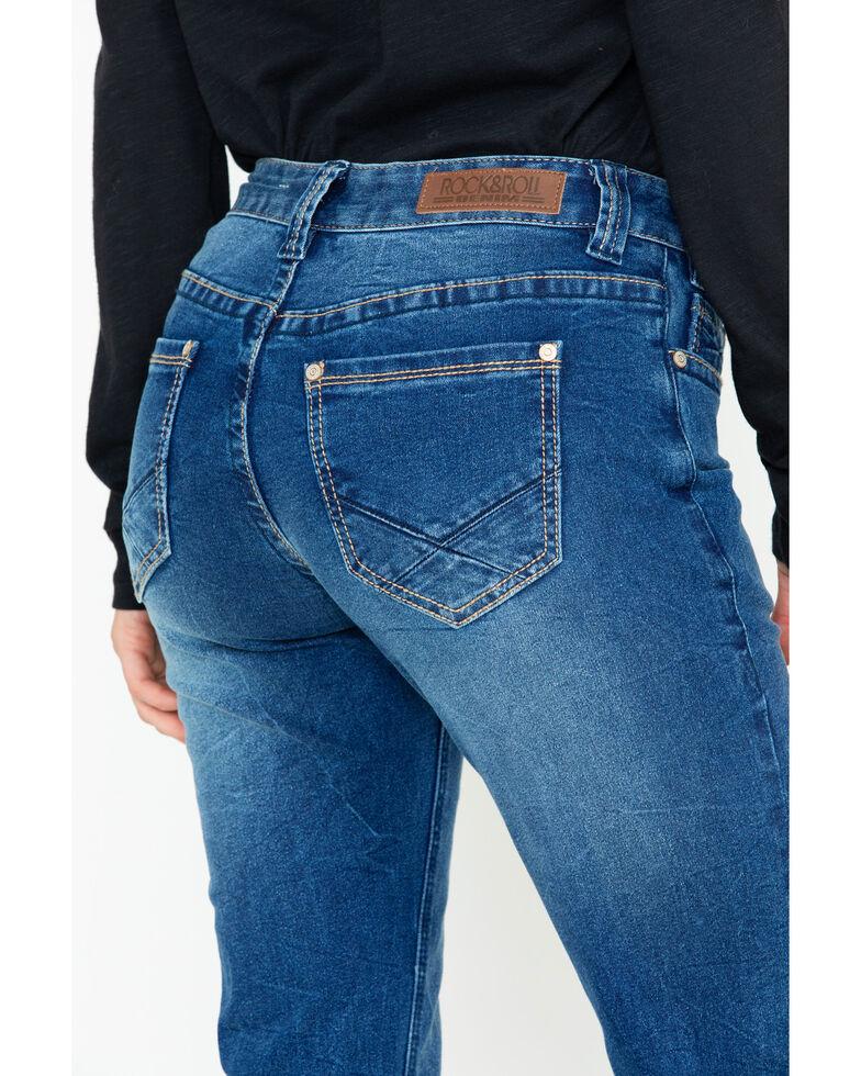 Rock & Roll Cowgirl Women's Criss Cross Bootcut Jeans , Medium Blue, hi-res