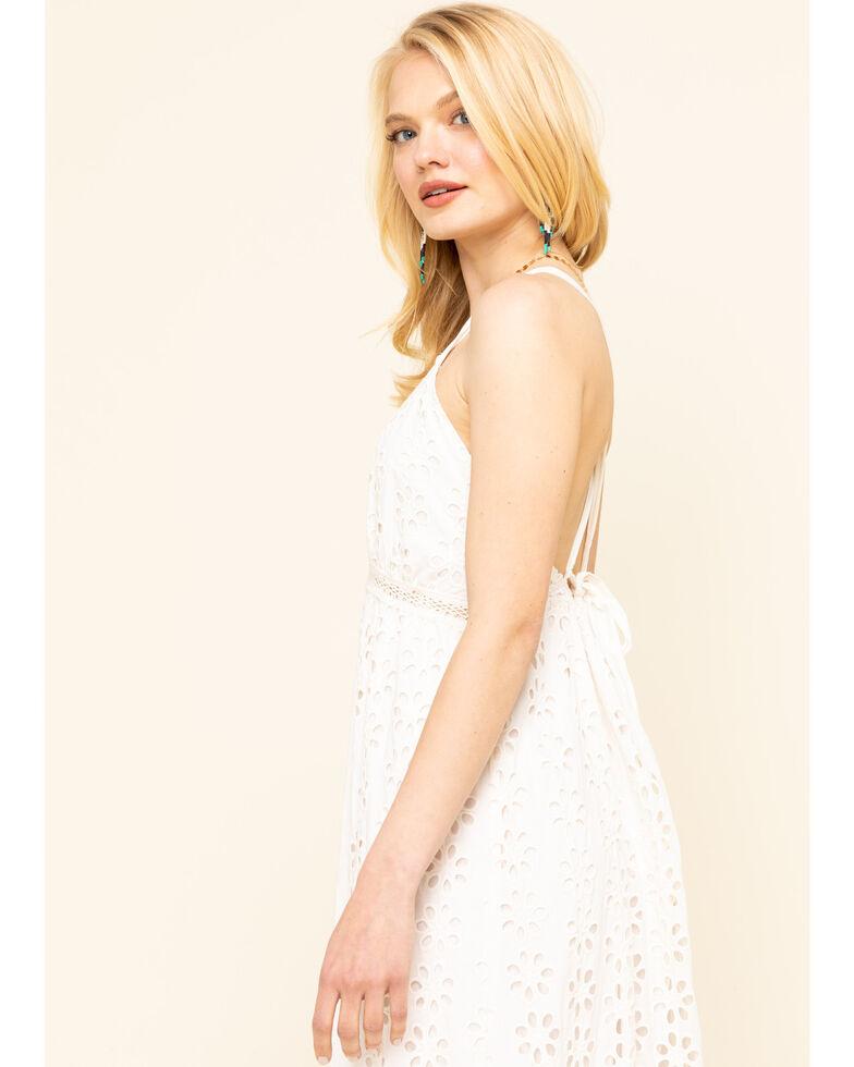 Coco + Jaimeson Women's Ivory Eyelet Maxi Dress , Ivory, hi-res