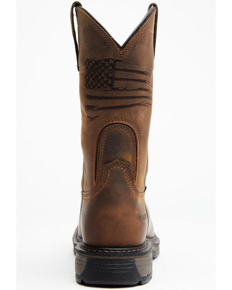 Ariat Men's Liberty Workhog Western Work Boots - Composite Toe, Distressed Brown, hi-res