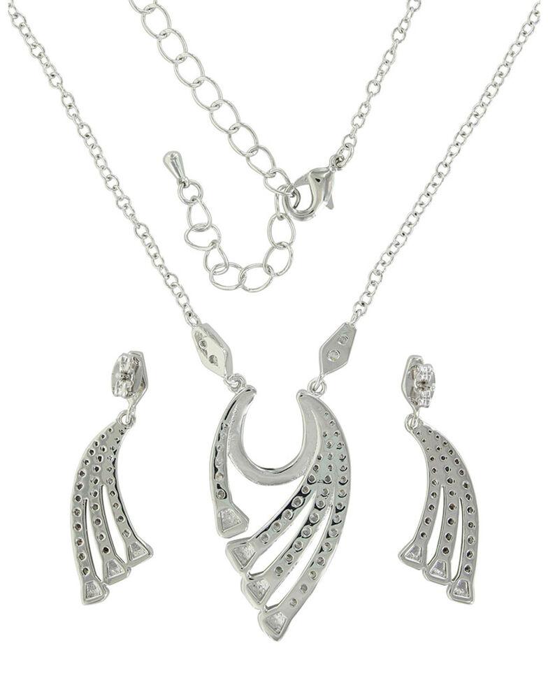 Montana Silversmiths Women's Bending But Never Breaking Horseshoe Jewelry Set, Rust Copper, hi-res
