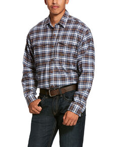 Ariat Men's Wildcat Rebar Flannel Durastretch Long Sleeve Work Shirt - Big, Multi, hi-res