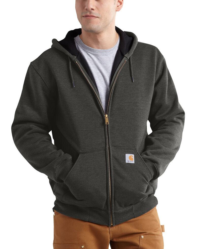 Carhartt Men's Thermal Lined Hooded Zip Jacket - Big & Tall, Bark, hi-res
