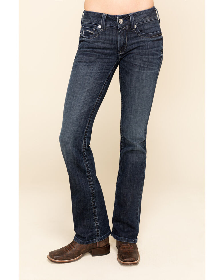 Ariat Women's Angel Arrow Fit Bootcut Jeans , Blue, hi-res