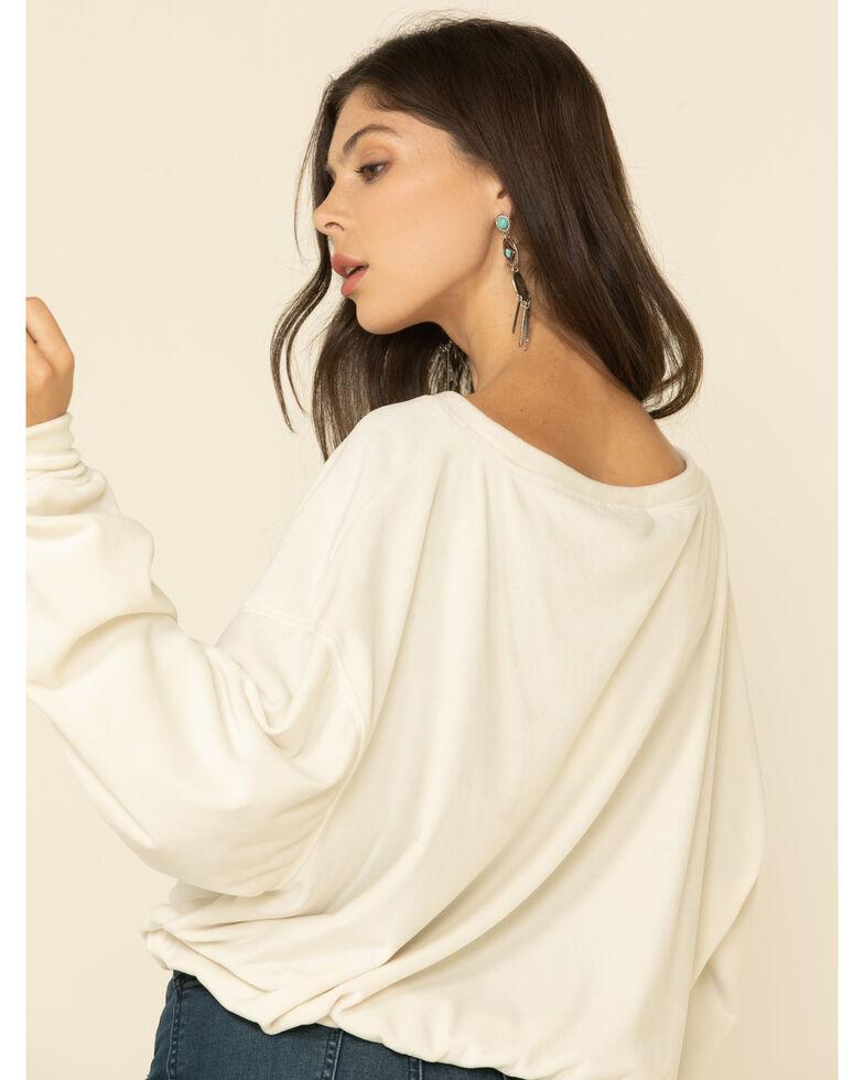 Z Supply Women's Bodhi Velour Sweatshirt , Ivory, hi-res