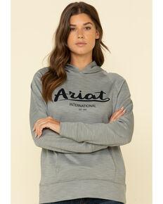 Ariat Women's Heather Grey Logo Sweatshirt, Grey, hi-res