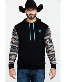HOOey Men's Black Saguaro Aztec Pullover Hoodie , Black, hi-res