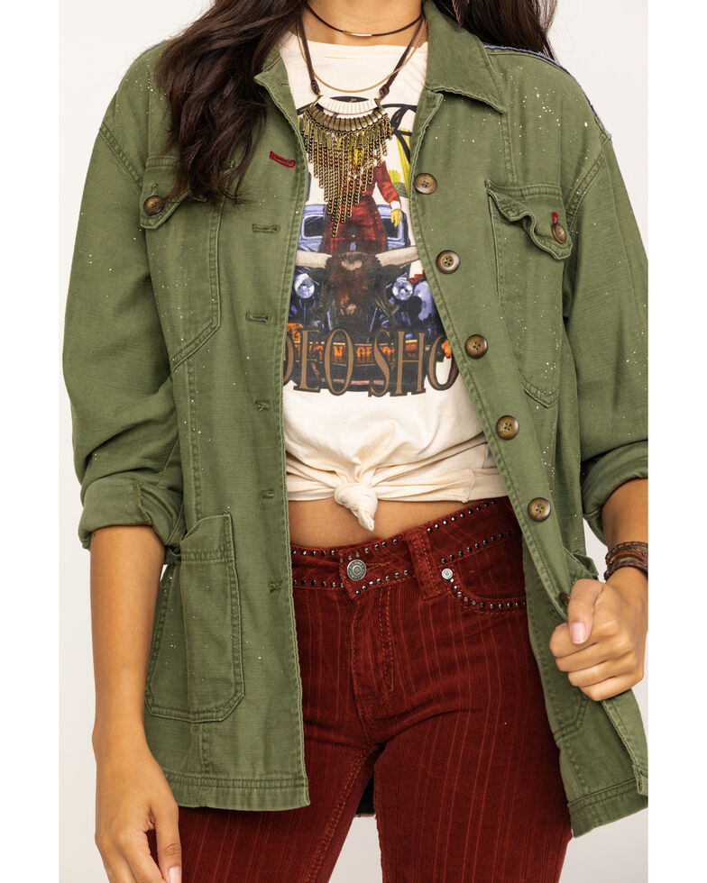Free People Women's Olive Spruce Military Jacket , Olive, hi-res