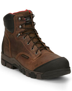 Justin Men's Bridger Waterproof Work Boots - Composite Toe, Brown, hi-res
