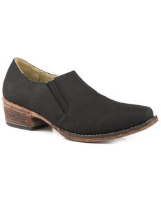 Roper Women's Birkita Classic Shoe Boots - Snip Toe, Black, hi-res