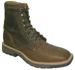 """Twisted X Lite 8"""" Lace-Up Work Boots - Steel Toe, Distressed, hi-res"""