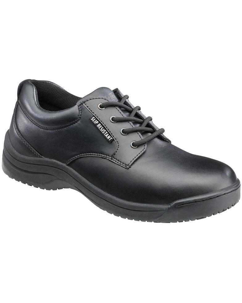 SkidBuster Men's Black Slip-Resistant Oxford Work Shoes , Black, hi-res