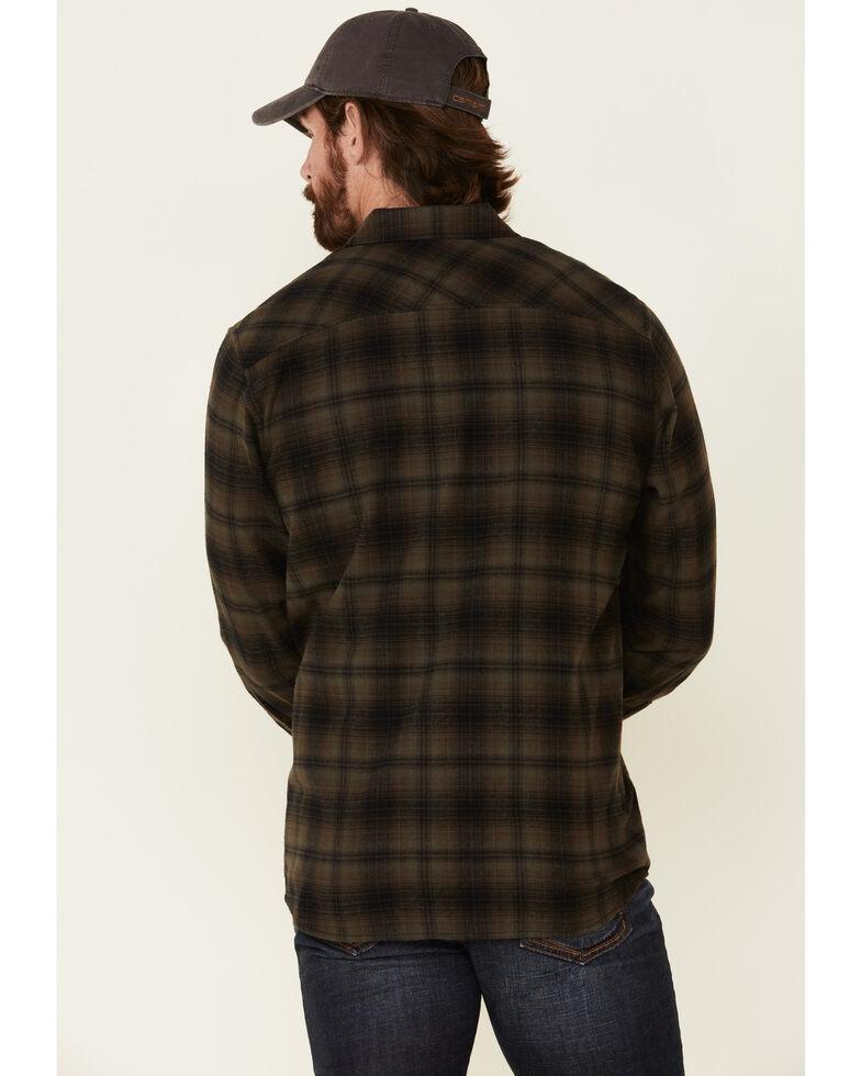 North River Men's Ivy Green Barn Plaid Long Sleeve Western Flannel Shirt , Green, hi-res