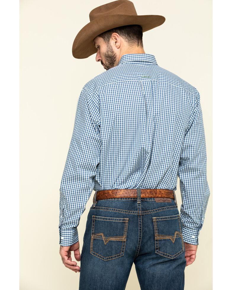 Ariat Men's Wrinkle Free Zestmont Small Plaid Long Sleeve Western Shirt , Blue, hi-res