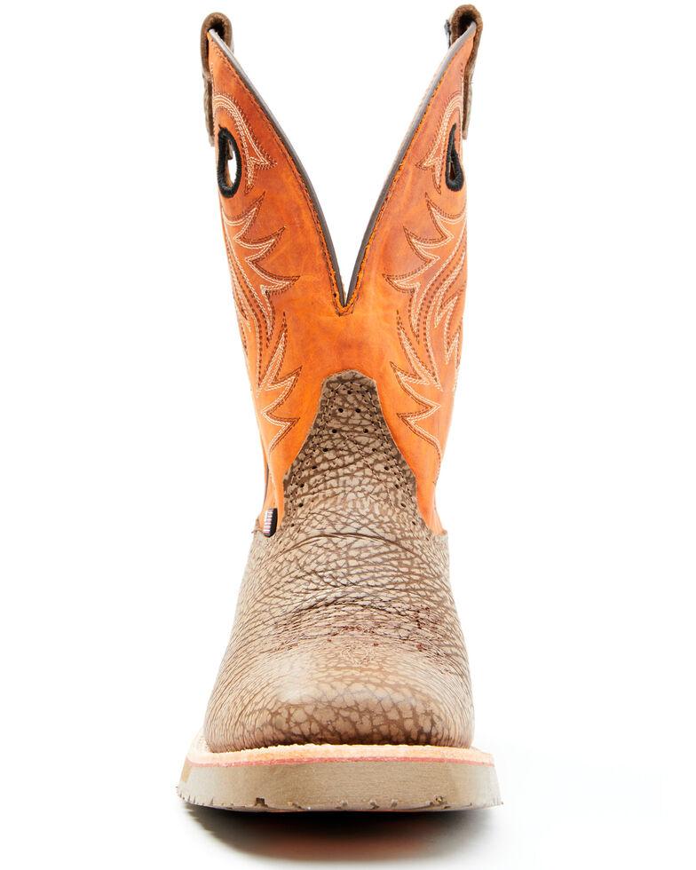 Double H Men's Luis Roper Western Boots - Wide Square Toe, Brown, hi-res