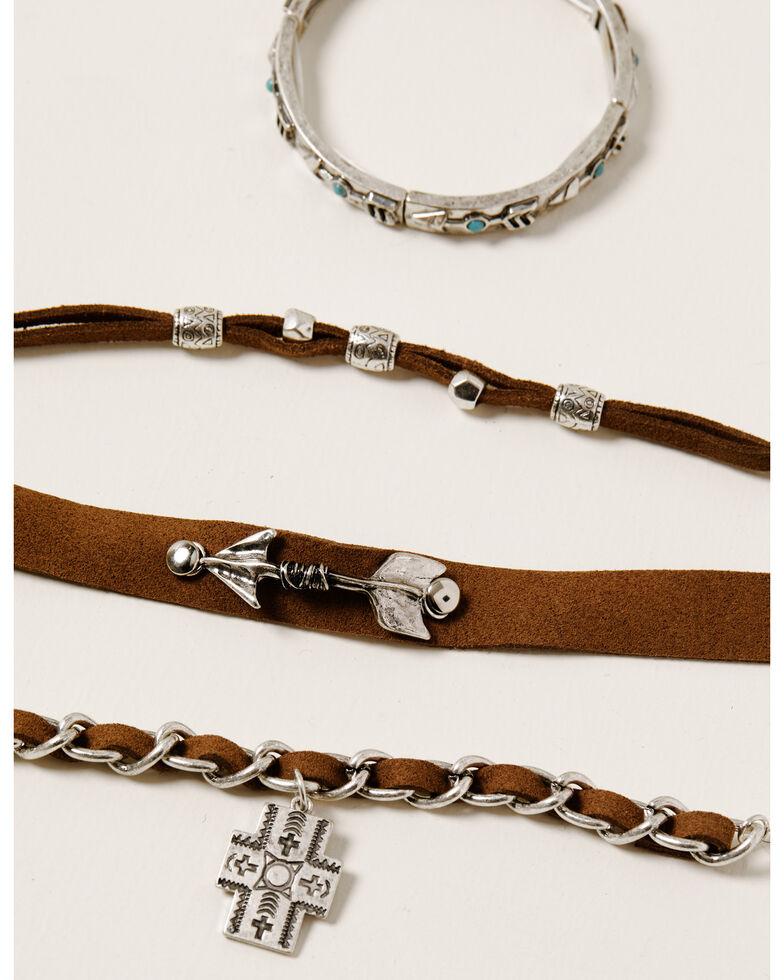 Shyanne Women's Ida 4pc Charm Bracelet Set, Silver, hi-res